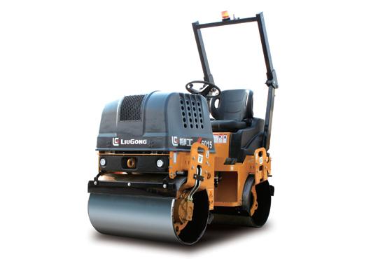 柳工CLG6015手扶双钢轮压路机高清图 - 外观