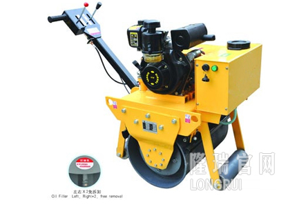 隆瑞机械LRY600手扶单钢轮压路机高清图 - 外观