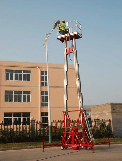 美通重工CMP-14桅柱式高空作业平台高清图 - 外观
