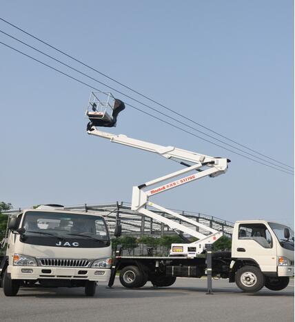 美通重工S2110C车载型高空作业车高清图 - 外观