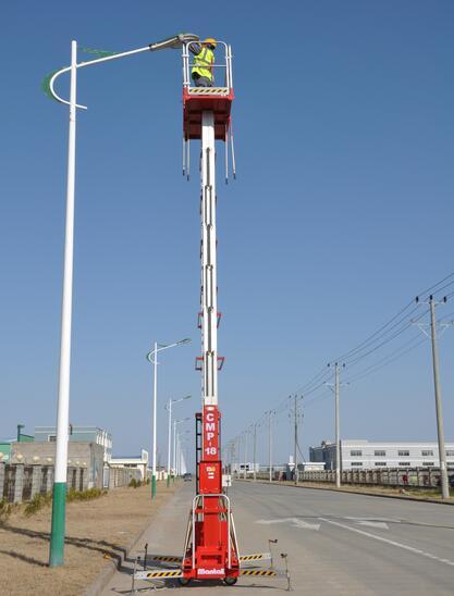 美通重工CMP-12桅柱式高空作业平台高清图 - 外观