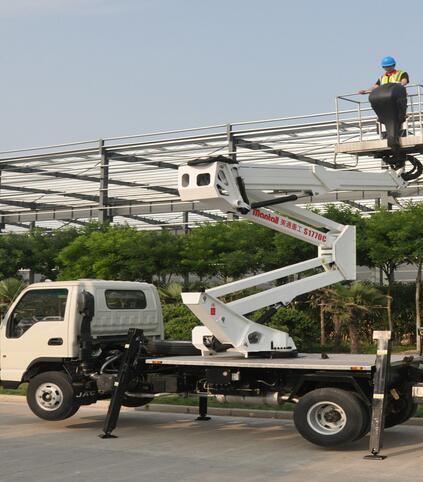 美通重工S2815C车载型高空作业车高清图 - 外观