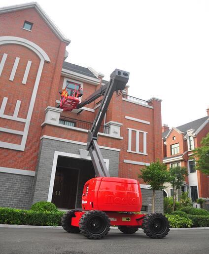 美通重工HZ140 RT自行式曲臂型高空作业平台高清图 - 外观