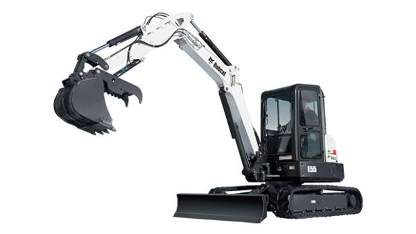 斗山E55小型挖掘机