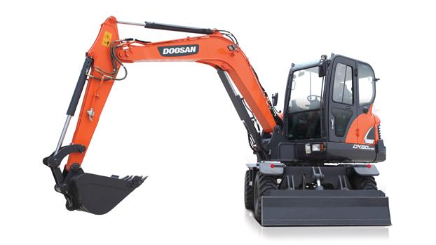 斗山DX60W-9C輪式挖掘機
