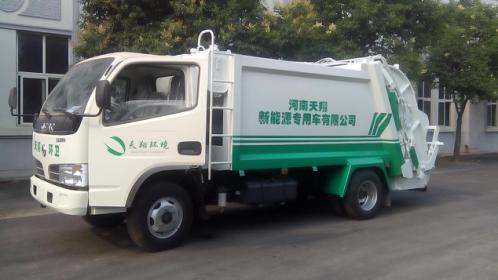 天翔纯电动中型垃圾运输车高清图 - 外观