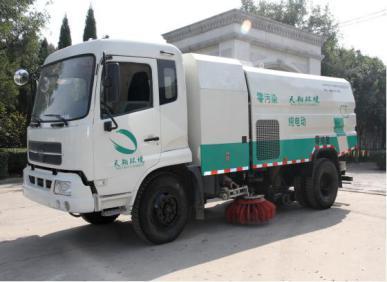 天翔纯电动中型扫路车(洗扫车)高清图 - 外观