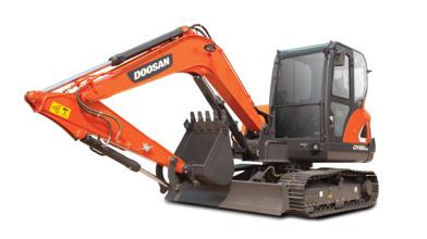 斗山DX60-9C挖掘机高清图 - 外观
