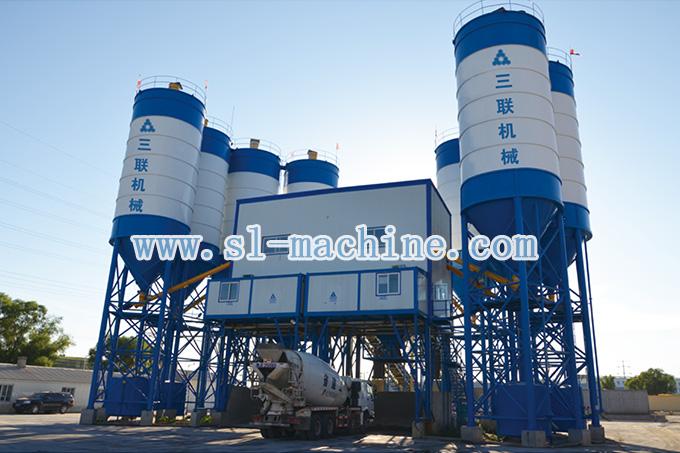三联机械HZS90商品混凝土搅拌站高清图 - 外观