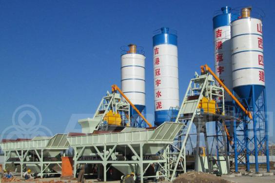 方圆HZS50-CP1000斗提式混凝土搅拌站