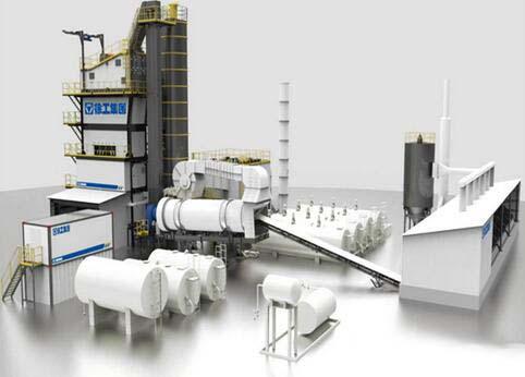 徐工XAP240H环保型沥青混合料搅拌设备高清图 - 外观