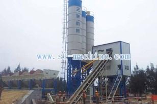 三联机械HZS180模块式混凝土搅拌站