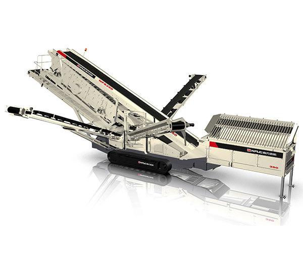 南方路机NFS550履带移动筛分站