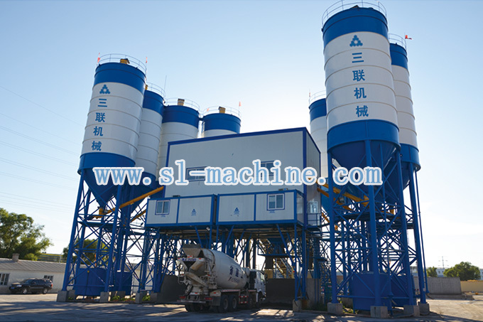 三联机械HZS120商品混凝土搅拌站