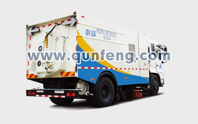 群峰智能MQF5180ZYSD5后装压缩式垃圾车高清图 - 外观