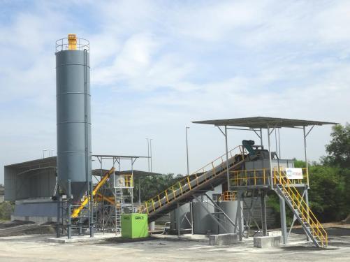 陆德WCBD400C稳定土厂拌设备