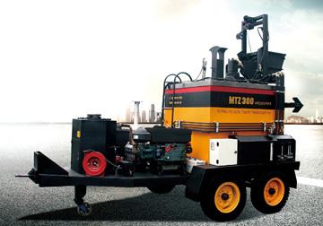 美通筑机MTZ600拖式热再生