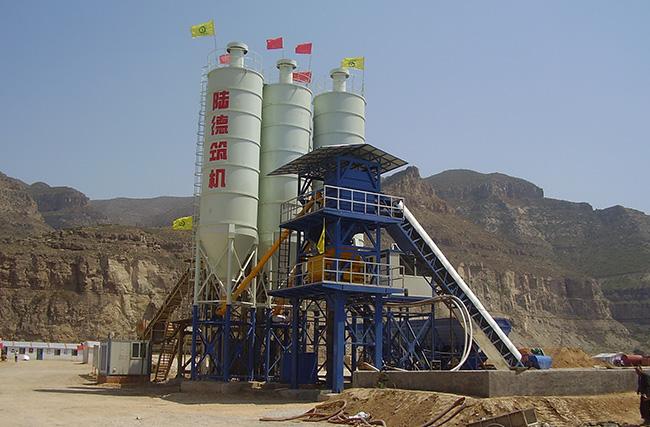 陆德HZS60水泥混凝土搅拌站高清图 - 外观