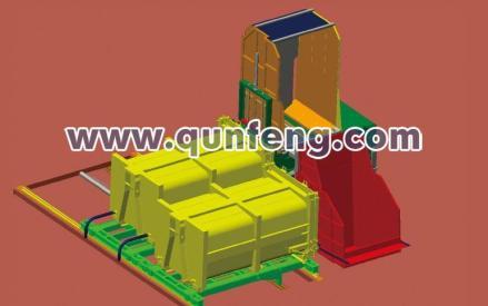 群峰机械LYSX15型水平分体式垃圾压缩机(移箱式)