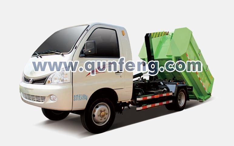 群峰智能MQF5031ZXXH5车厢可卸式垃圾车高清图 - 外观
