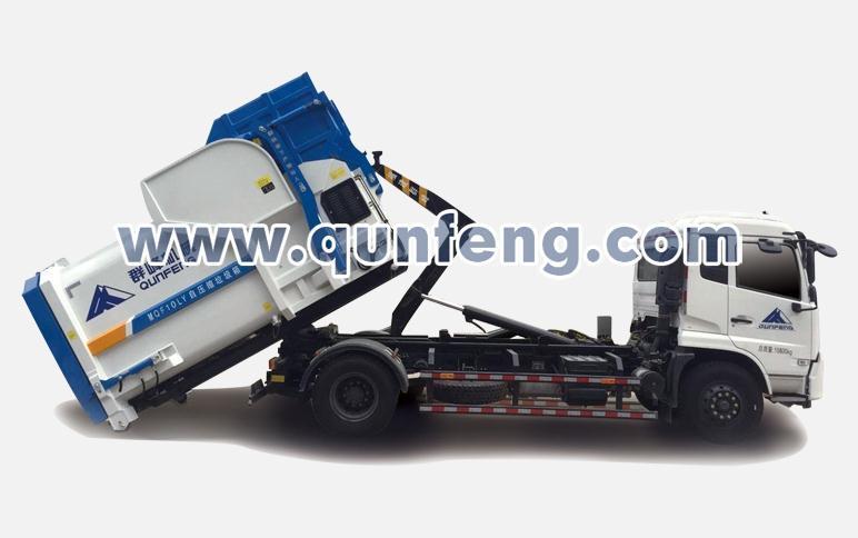 群峰智能MQF5160ZXXD5车厢可卸式垃圾车高清图 - 外观