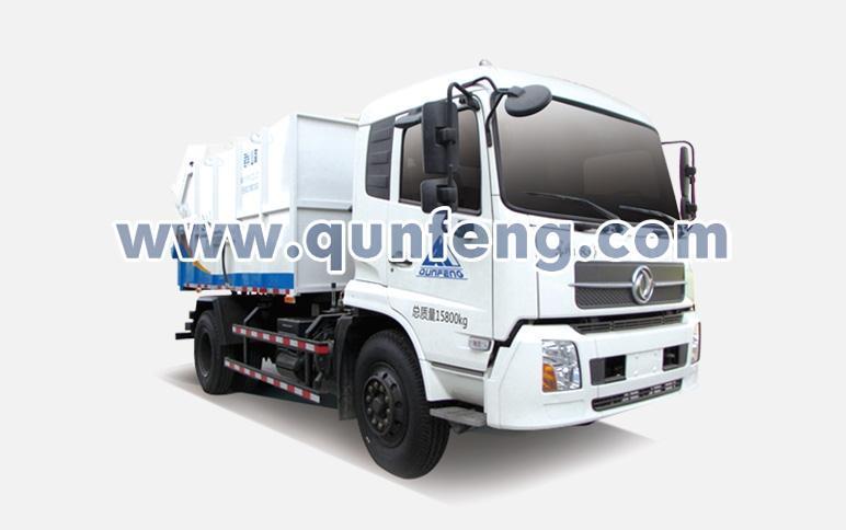 群峰智能MQF5180ZDJD5压缩式对接垃圾车高清图 - 外观