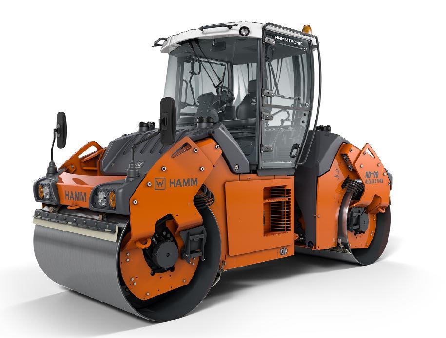 悍马HD+ 90 VT双钢轮压路机高清图 - 外观