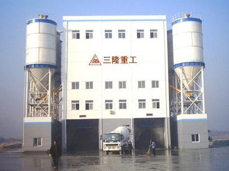 三隆重工HLS180商品混凝土搅拌楼