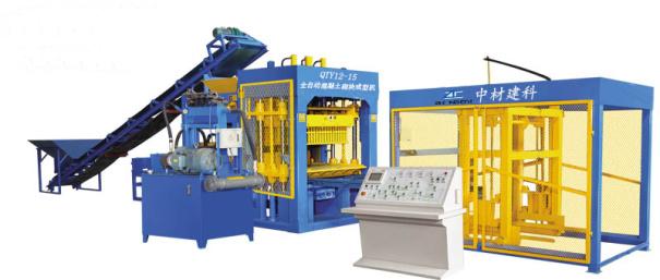 中材建科QTY12-15型液压砖机全自动生产线