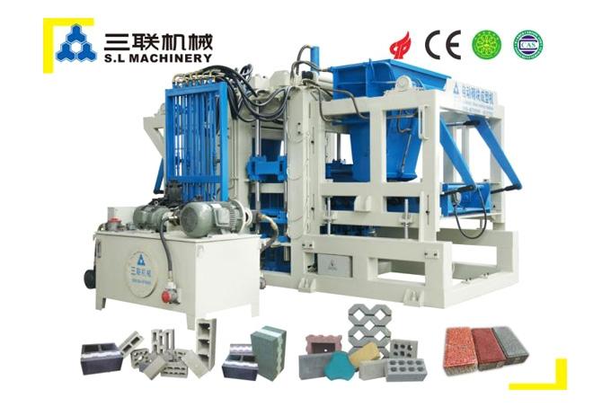 三联机械QFT10-15透水砖机高清图 - 外观