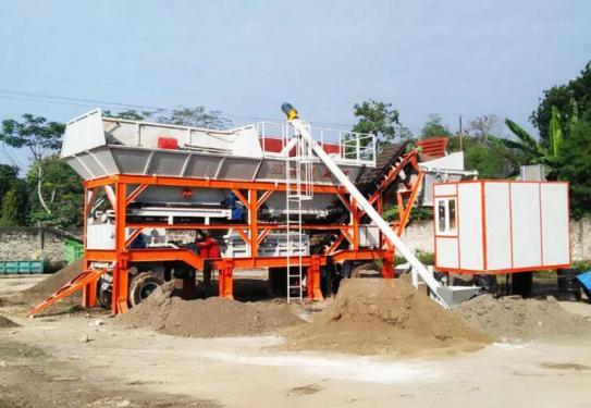 岳首移动式改良土厂拌设备