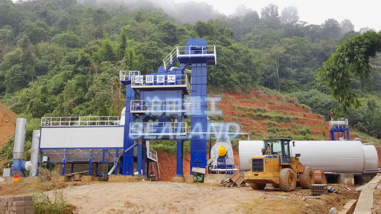 沧田重工LB1500强制式沥青混合料搅拌设备高清图 - 外观