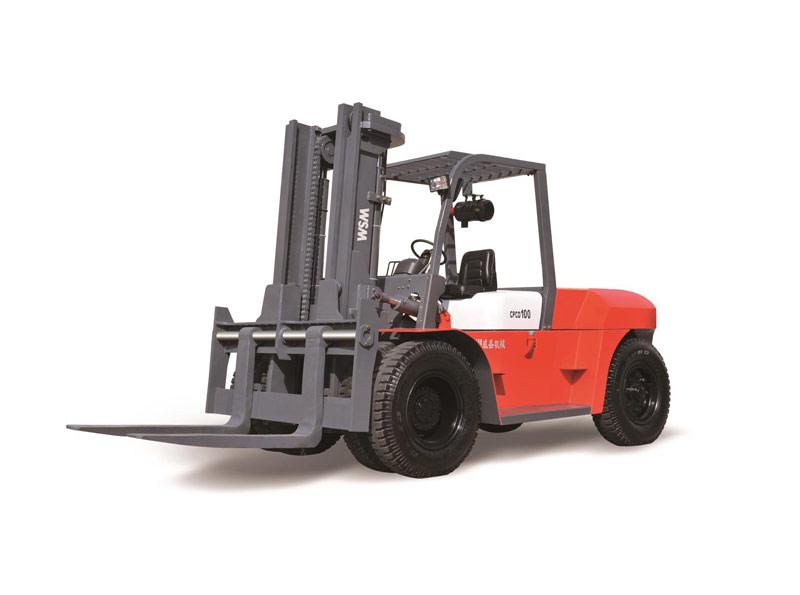 威盛CPCD100内燃平衡重式叉车高清图 - 外观