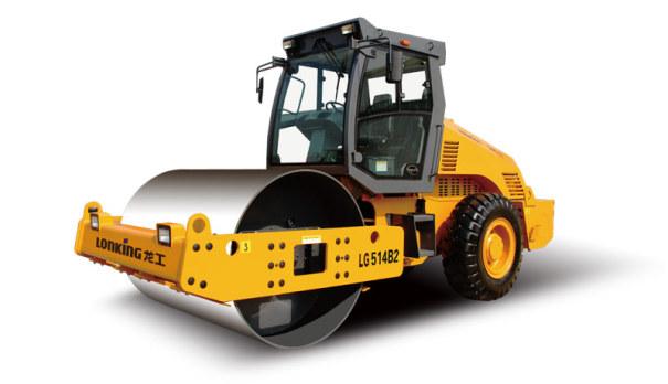 龙工LG514B2机械驱动单钢轮振动压路机