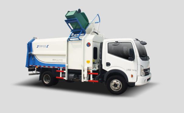 同辉汽车QTH5070ZZZA(带推板)8方东风凯普特侧装挂桶垃圾车