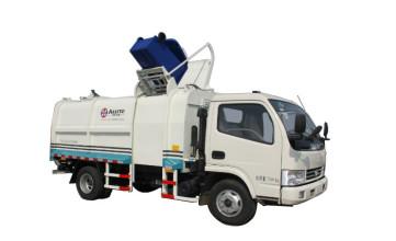 同辉汽车QTH5074ZZZ(带推板)9方东风天然气(CNG)侧装挂桶垃圾车高清图 - 外观