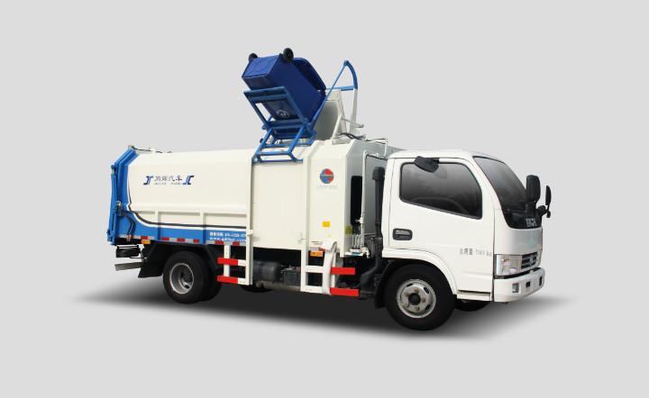 同辉汽车QTH5078ZZZ(带推板)9方东风侧装挂桶垃圾车