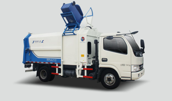同辉汽车QTH5072ZZZA(带推板)8方东风底盘侧装挂桶垃圾车