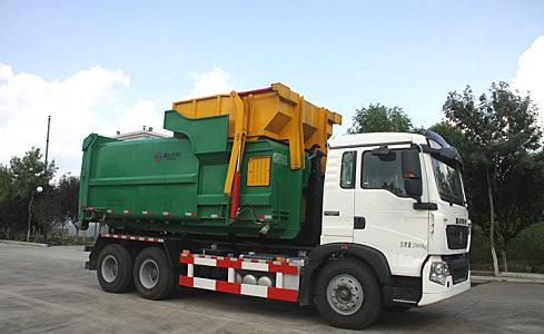 同辉汽车QTH5252ZXX30方重汽底盘车厢可卸式垃圾车心下当然明白