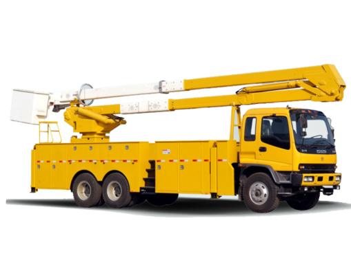 海伦哲XHZ5210JGKQ5/XHZ5210JGKD5庆铃/东风25.4m绝缘臂高空作业车