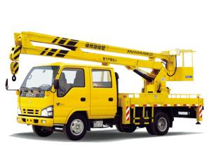 海伦哲XHZ5054JGKQ5庆铃14m折叠臂高空作业车高清图 - 外观