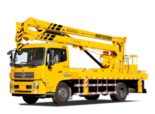 海伦哲XHZ5122JGKD5东风21m折叠臂高空作业车
