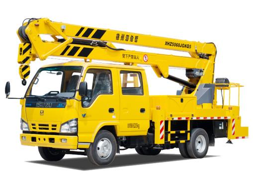 海伦哲XHZ5068JGKQ5/XHZ5068JGKQ53庆铃17.6m折叠臂高空作业车