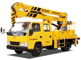 海伦哲XHZ5065JGKJ51江铃15.2m折叠臂高空作业车