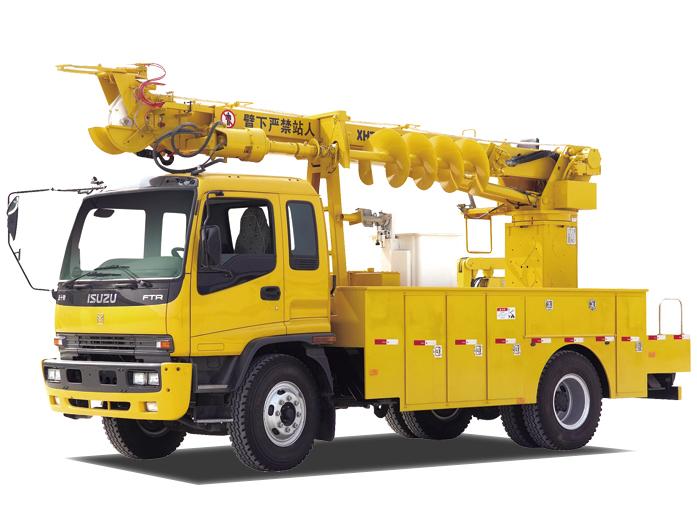 海伦哲XHZ5130TXGD5东风14m 线杆综合作业车高清图 - 外观