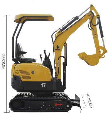 立派PC1718小型挖掘机