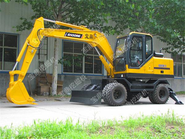 宝鼎BD95W-9轮式挖掘机高清图 - 外观