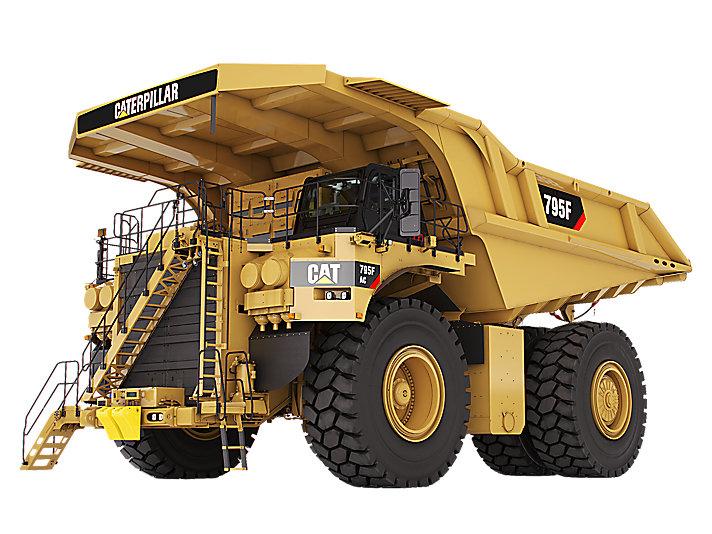 卡特彼勒795F AC采矿卡车高清图 - 外观