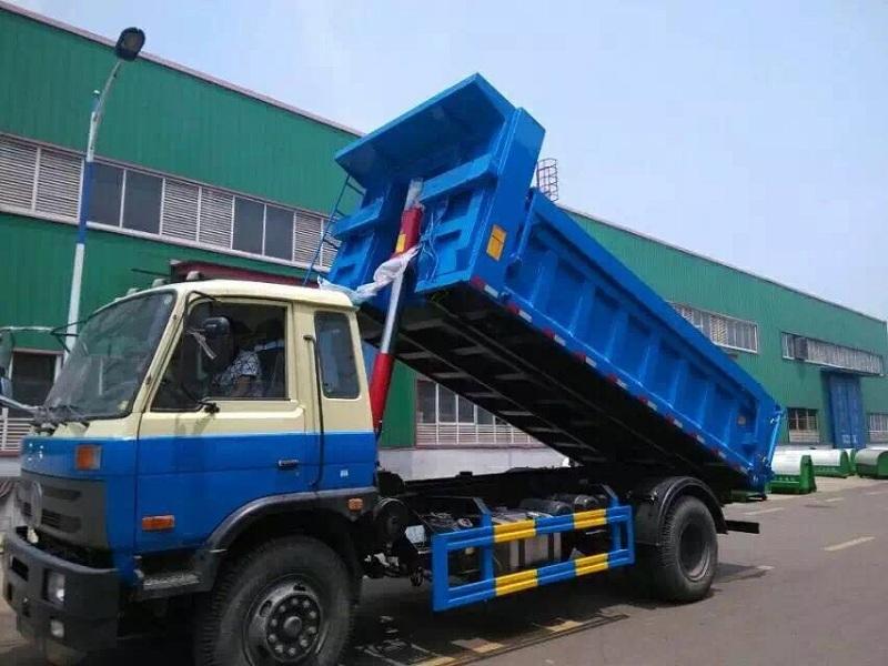 程力EQ东风平头自卸式垃圾车