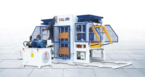 泉工QT10全自动彩色花砖制砖机设备